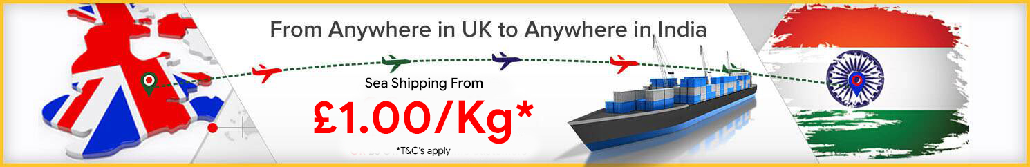 Parcels To India | send all types of sea & air cargo from UK